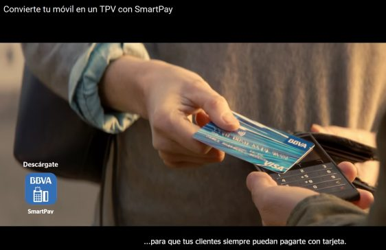 "BBVA spreads an advertising campaign ""SmartPay"" on TV about FlyPOS technology"